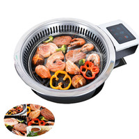 Wholesale barbecue grill sales resale online - HOT SALE Commercial barbecue charcoal grill oven Korean smokeless grill Stainless Steel Pan frying roast meat
