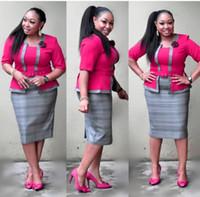 vestidos de una sola pieza tamaño xxl al por mayor-XXXL Nuevo estilo Ropa de mujer africana Ropa de Dashiki Estampado de tela vestido de una pieza tamaño L XL XXL