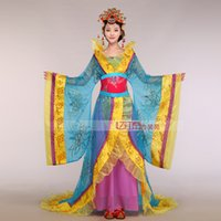 Wholesale red queen clothing for sale – halloween Ancient China Royal Imperial concubine costume Tang Song Ming Dynasty clothing Chinese queen performance Mullet dress Outfit