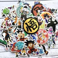 bolsas de regalo de personalidad al por mayor-Nuevo Dragon Ball Z Graffiti Pegatina Personalidad Equipaje DIY Pegatinas Dibujos animados PVC Pegatinas de pared Bolsa Accesorios Niños Regalo Juguetes