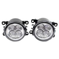 ford drl toptan satış-Ön Tampon LED Sis Farları Yüksek Parlaklık DRL Sürüş sis lambaları 1 takım Için DACIA LOGAN Saloon LS_ 2004-2012