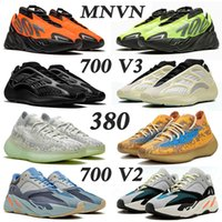 us13 koşu ayakkabıları toptan satış-ayakkabı 2020 New Kanye Boost 700 V2 Wave Runner Running Shoes For Men Women Fashion Azael Alvah Alien Mist Vanta Trainers Luxury Designer Sneakers