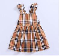 новая одежда в стиле англия оптовых-Детские модные платья Baby Girl New Brand Dress Летние полосатые платья-ремешки с кружевными девочками в стиле A-Line Платья для девочек Одежда