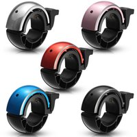 mini guiador venda por atacado-Mini-bicicleta sino de alumínio guiador alarme chifre anel 5 cores 95db