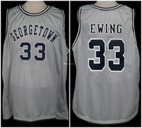 Wholesale georgetown basketball jersey for sale - Group buy Georgetown Hoyas College Patrick Ewing Grey Retro Basketball Jersey Mens Stitched Custom Any Number Name Jerseys