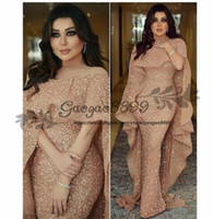 Wholesale nude art pictures resale online - 2019 Luxury Mermaid Arabic Long Evening Dresses Jewel Neck Sequins Floor Length Middle East Prom Formal Party Dresses cheap custom made