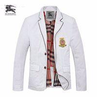 gold rote weiße hochzeitskleidung großhandel-19 neue Anzug Mode High-End-Männer Doppelknopf Farbabstimmung lässig England kleinen Anzug Jacke gut aussehender Mann 712