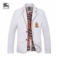 çift düğmeli takım elbisesi toptan satış-19 yeni takım elbise moda high-end erkek çift düğme renk eşleştirme rahat İngiltere küçük takım elbise ceket yakışıklı erkek 712