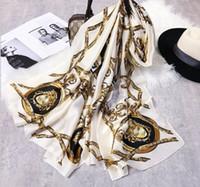ingrosso seta più-Trasporto libero 2019 donne moda stampa sciarpa di seta scialle spiaggia e Echarpe estate Wrap Designer sciarpe Plus Size spiaggia femminile stole bandana