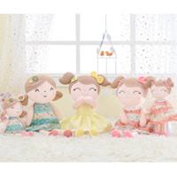 bonecas de pano venda por atacado-Gloveleya Bonecas De Pelúcia Primavera Boneca da Menina Presentes Presentes Bonecas De Pano Crianças Boneca De Pano De Pelúcia Brinquedos Kawaii J190717