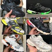 zapato de correr al por mayor-Con la caja 2019 Nueva 3M Triple S Zapatas de 3.0 Operando Triple-S Tess Gomma Maille jogging zapatos de diseño deportivo zapatilla de deporte 35-45