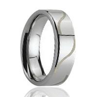 wolframlinie großhandel-Wave Line Lasergravur Flat Pipe Cut Tungsten Ring Großhandel 8mm für Männer
