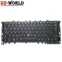 thinkpad yoga großhandel-Neue Original GB UK Englisch Tastatur mit Hintergrundbeleuchtung für Lenovo Thinkpad S1 Yoga Yoga 12 Teclado 04Y2649 04Y2945 SN20A45487