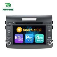 radio bluetooth para honda crv al por mayor-Android 9.0 Core PX6 A72 Ram 4G Rom 64G DVD del coche GPS Reproductor multimedia Estéreo del coche para la unidad de radio de HONDA CRV