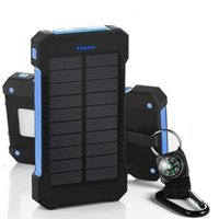 20000mAh Solar Power Bank 2 USB Port Charger External Backup Battery With Retail Box For Xiaomi Samsung cellpPhone