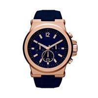 мужские наручные часы оптовых-48 мм Дилан Хронограф Темно-Циферблат Мужские Часы 8295 PVD Розовые Наручные Часы Кварцевые Наручные часы Рождественский Подарок