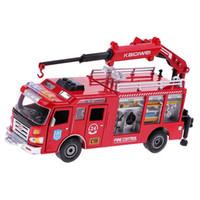 model vinçler oyuncaklar toptan satış-1:50 Mini Itfaiye Vinç Araba Yangın Kurtarma Kamyon Araç Modeli Eğitici Oyuncaklar Çocuklar Çocuklar için Doğum Günü Hediyesi Yürüyor