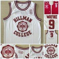 películas de teatro al por mayor-Wayne 9 Hillman College Theatre Basketball Jersey 1881 Deus Nondum Te Confecit Patch Mens Movie Jersey Doble puntada Nombre y número