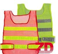 construction vest al por mayor-Ropa de seguridad Chaleco reflectante Chaleco de rejilla hueco Alta visibilidad Advertencia Seguridad en el trabajo Construcción Chaleco de tráfico