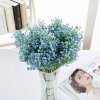 ingrosso fiori artificiali in vendita-Real Touch Wedding Fiori artificiali Babysbreath Fiori Home Decoration Decorazioni per feste Stars Flowers Bride Bouquet 2019 vendita calda