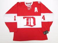 hockey jerseys оптовых-Дешевые обычай BRENDAN SHANAHAN DETROIT RED WINGS ALUMNI VINTAGE CCM ХОККЕЙ ДЖЕРСИ стежок добавить любое число любое имя Mens Hockey Jersey XS-6XL