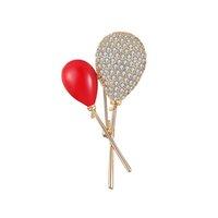 lolipop balonları toptan satış-2019 Sevimli Eğilim Kişilik Bakır Broş Kırmızı Balon Lolipop Broş Pin Elbise Sırt Çantası Takı Aksesuarları Yüksek Kalite