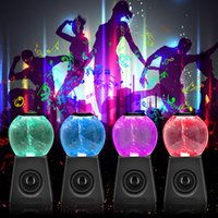 Wholesale colorful water speakers for sale - Group buy Heavy Subwoofer Speaker Stereo Wireless Bluetooth Speaker LED Colorful light Music Portable Player Water Polo Tornado Waterdance