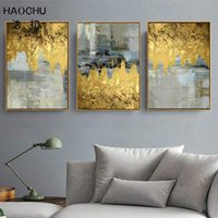 Wholesale deco posters for sale - Group buy HAOCHU European classical gold foil abstract pattern art deco poster wall decoration picture wall stickers art space painting