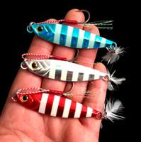 ingrosso testa dell'esca-Metallo Jig 20g / 5.8 cm 30g / 6.6 cm Fishing Lure Hard Lead Slice Teste Jigging Bait Spoon Affrontare Pesce Jigs Esche LJJZ307
