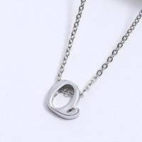 Wholesale tiny pendants for sale - Group buy Tiny Rose Gold Silver Letters Necklace Fashion Women s Metal Alloy DIY Letter Name Initial Link Chain Charm Pendant Necklace