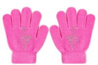gants blancs garçons achat en gros de-Glace Homme Magique Figure Patinage Poignet Gants Formation Gants Chaud Protecteur De La Main Thermique De Sécurité Pour Enfants Strass 6 Couleurs