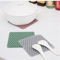 Wholesale multi cup holder resale online - Heat Resistant Silicone Mat Drink Cup Coasters Non slip Pot Holder Table Placemat Kitchen Accessories Household Tool CT0444