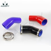Wholesale silicone hose reducer resale online - 2 quot to quot mm mm Silicone Degree Elbow Reducer Pipe Hose Clamps clamps black blue red