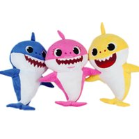 Wholesale girls toys for sale resale online - Hot sale Color cm inch Baby shark With Music Cute Animal Plush New Baby Shark Dolls Singing English Song For Children Girl B