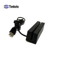 Wholesale universal card readers resale online - Universal Two Way Swipe VIP Card High And Low Co Three Full Track MSR Stripe USB Magnetic Card Reader