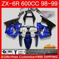 Wholesale black white 636 resale online - Fairing For KAWASAKI NINJA ZX CC ZX6R Kit HC ZX636 ZX R blue black hot ZX R ZX600 CC ZX R Body