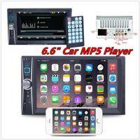 rádio preto venda por atacado-Novo Bluetooth Car Stereo MP3 Player 6.6