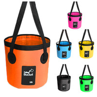 Wholesale portable car wash bucket for sale - Group buy New Style Fish Bucket Folding Bucket Outdoor Fishing Box Portable Car Wash Buckets Portable Folding Water Container Durable Storage M238Y