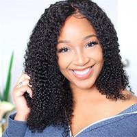 erkekler için tam peruk toptan satış-Sıcak Siyah Kadınlar Için Tam Dantel İnsan Saç Peruk 130 150 denistity Brezilyalı Remy Kinky Kıvırcık İnsan Saç Peruk Ön Koparıp Kıvırcık LIN ADAM ...