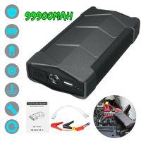 şarj cihazı atlama başlangıç toptan satış-99900 mAh 12 V Araba Atlama Marş Booster LCD USB Şarj Pil Telefon Güç Bankası Araba Pil Booster Başlangıç Aygıtı
