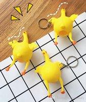 gummi-huhn stress spielzeug großhandel-Anti-Stress Spielzeug Ei Legehennen Huhn Antistress Spielzeug Für Jungen Schocker Ei Legehennen Gummi Huhn Vent Erwachsenes Spielzeugauto Schlüsselbund