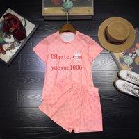 одежда йоги высокого качества оптовых-Бренд летние платья женщин 2 шт короткие наборы женские футболки йога шорты высокое качество мода письмо Вышивка летний комплект женской одежды