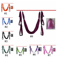 Wholesale anti gravity yoga swing resale online - Anti Gravity yoga hammock fabric Yoga Flying Swing Aerial Traction Device Yoga hammock set Equipment for Pilates body shaping ZZA184