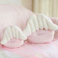 Wholesale foam figures kids resale online - pink angel wings plush backpacks kawaii designer look crossbody bag with wings backpack kids school shoulder bag woman girls