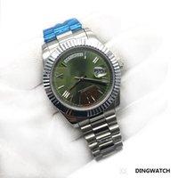 número do dia venda por atacado-Top de Luxo Mens Watch Day-Date Cristal De Safira Rosa de Ouro 18 K Roma Número Homens Relógios de Aço Inoxidável Automático Mecânico Relógio de Pulso Masculino.