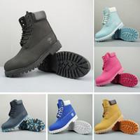 bagajsız nakliye toptan satış-Timberland Çizmeler Erkek Kadın Tasarımcı Askeri Çizme Mavi Kestane Üçlü Siyah Beyaz Camo Yürüyüş Botları 36-45 Ücretsiz Kargo