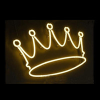 Wholesale neon store signs for sale - Group buy Yellow Imperial Royal Crown Neon Sign Custom Handmade Real Glass Tuble Window Art Bar Store Motel Home Decoration Display Neon Signs quot x7 quot
