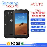андроидные водонепроницаемые сотовые телефоны оптовых-Dual Sim противоударный пылезащитный сотовый мобильный Android смарт прочный 4G LTE мобильный телефон водонепроницаемый IP68 смартфон водонепроницаемый телефон