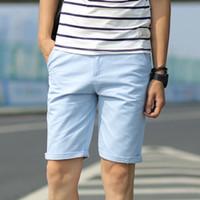 büyük erkekler kargo pantolon toptan satış-Beyaz Yaz Rahat Kore Şort Erkekler Gevşek Ağırlık Pamuk Büyük Boy Kısa Kargo Pantolon Erkekler Rotkie Spodnie Erkek Giyim 50Dk002