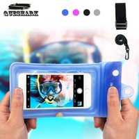 Wholesale waterproof neck cases for sale – best Universal Waterproof Diving Bag Phone Case Multifunction Cell Phone Dry Bag Pouch with Armband Neck Strap for iPhone X Plus